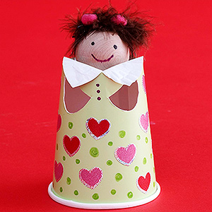 Finger Puppet Cup Doll
