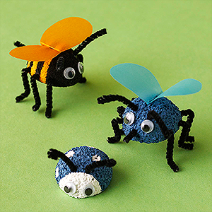 Cute Plastic Foam Bugs