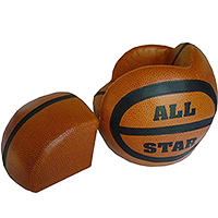 Basketball-Shaped Chair and Ottoman Sets
