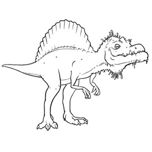 Spinosaurus Colouring Pages Tattoo - TattoosKid