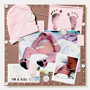 Baby scrapbook