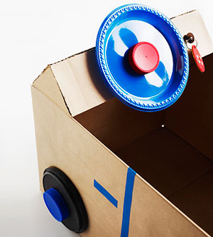 Cardboard Box Car: Steering Wheel by Jocelyn Worrall, Parents Magazine