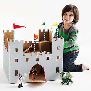 Cardboard Box Castle by Jocelyn Worrall, Parents Magazine