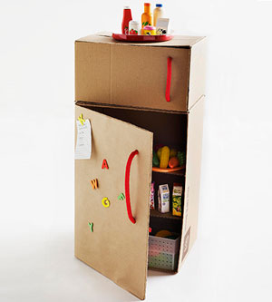 Cardboard Box Fridge by Jocelyn Worrall, Parents Magazine