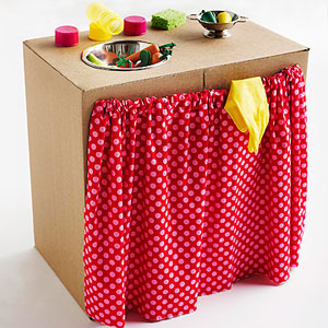 Cardboard Box Kitchen Sink by Jocelyn Worrall, Parents Magazine