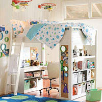 PBteen Sleep and Study Loft Beds