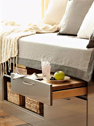 Kitchen-Inspired Bedside Storage