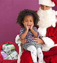 Kid on Santa?s lap