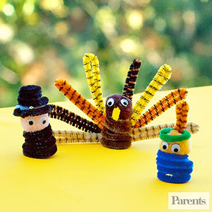 A few of my favorite things throw your own thankful party for Pipe cleaner turkey craft