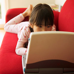 child on computer