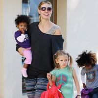 Heidi Klum with her daughters