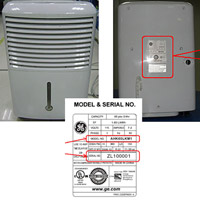 GE and Professional Series Dehumidifiers