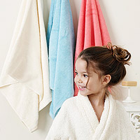 child in bathrobe