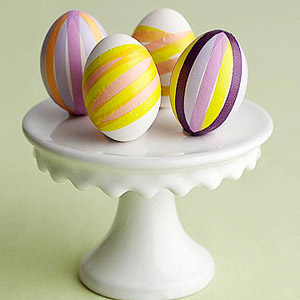 Tape striped eggs