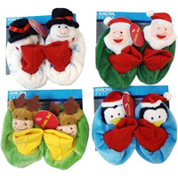 Atico International USA Holiday Rattle Baby Slippers