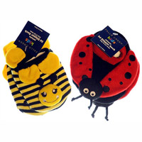 Meijer Bumble Bee and Lady Bug Infant Slipper Socks