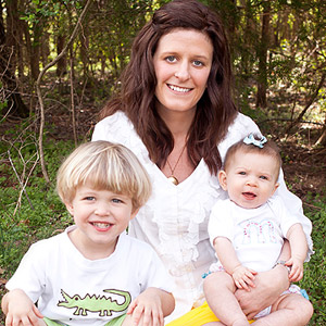 Laura Rouse and her kids