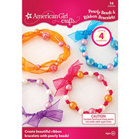 EKSuccess Brands American Girl Crafts Pearly Beads & Ribbon Bracelets Kit