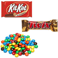 M&Ms, Twix, Kit Kat bar