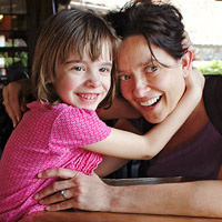 Lynn Hudoba and her daughter