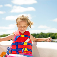 Child wearing lifejacket