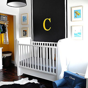 Melisa and Josh Fluhr?s Black and White Nursery for Baby Chase