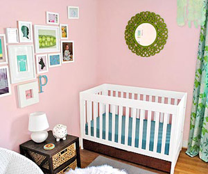 Sherry and John Petersik?s Pretty-in-Pink Room for Baby Clara
