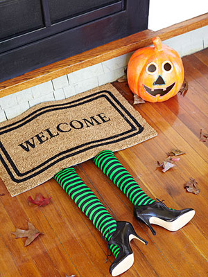 take an idea straight from the wizard of oz and create something similar for under a welcome mat or even under the couch