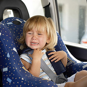 Toddler crying in car seat