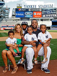 CC Sabathia and family