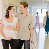 pregnant couple at hospital