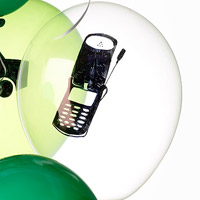 cell phone balloon