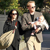 Jennifer Connelly and Paul Bettany with daughter Agnes