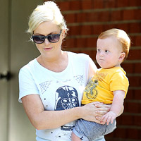 Amy Poehler and son Abel