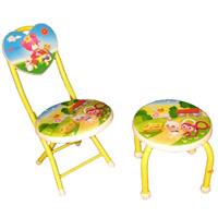 Children's chair and stool