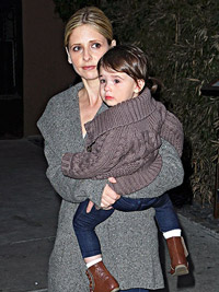 Sarah Michelle Gellar and Baby Charlotte