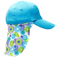 Blue hat with neck cover