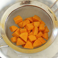 shock boiled sweet potatoes