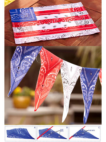 All-American Bandanna Garland and Place Mats