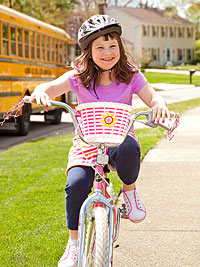 Morganne riding a bike