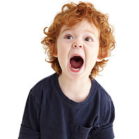 child screaming