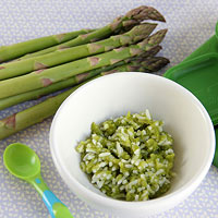 serve asparagus with rice