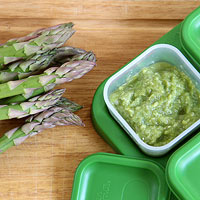 freeze asparagus puree
