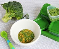 Serve Broccoli Puree With Sweet Potatoes