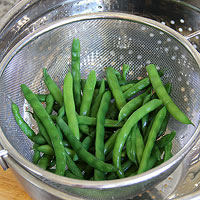 Rinse the Green Beans