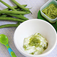 Serve Green Bean Puree With Yogurt
