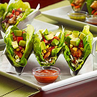 Asian Chicken Lettuce Wrap Tacos