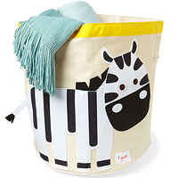 3 Sprouts Zebra canvas storage bin