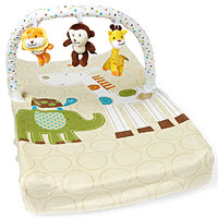 Summer Infant changing pad with toy bar and cover
