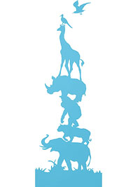 Blue Oilo Studio animal parade wall art